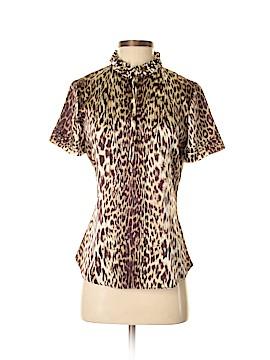 Elie Tahari Short Sleeve Silk Top Size S