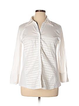 Carolyn Taylor Long Sleeve Button-Down Shirt Size 1X (Plus)