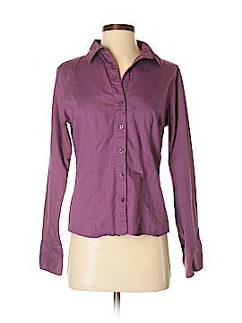 Fair Indigo Long Sleeve Button-Down Shirt Size 6