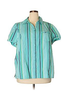 Liz & Me Short Sleeve Button-Down Shirt Size 22 - 24 (Plus)