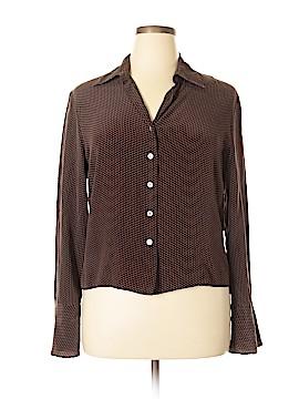 Willi Smith Long Sleeve Silk Top Size XL
