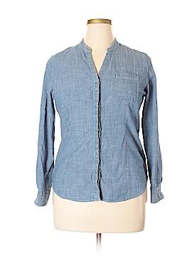 Dockers Long Sleeve Button-Down Shirt Size XL (Petite)