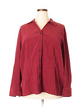 Fashion Bug Long Sleeve Button-Down Shirt Size 26 (Plus)