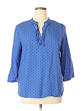 Talbots Outlet 3/4 Sleeve Blouse Size XL