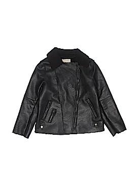 Zara Faux Leather Jacket Size 7 - 8