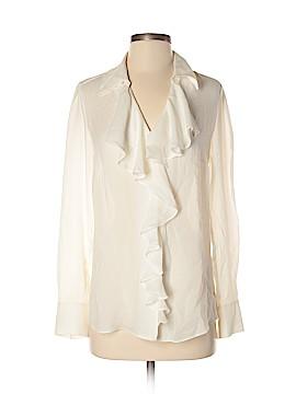 Etcetera Long Sleeve Silk Top Size 4