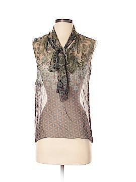 Alberta Ferretti Collection Sleeveless Silk Top Size 2