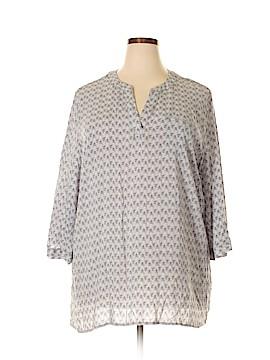 Susan Bristol 3/4 Sleeve Blouse Size 3X (Plus)