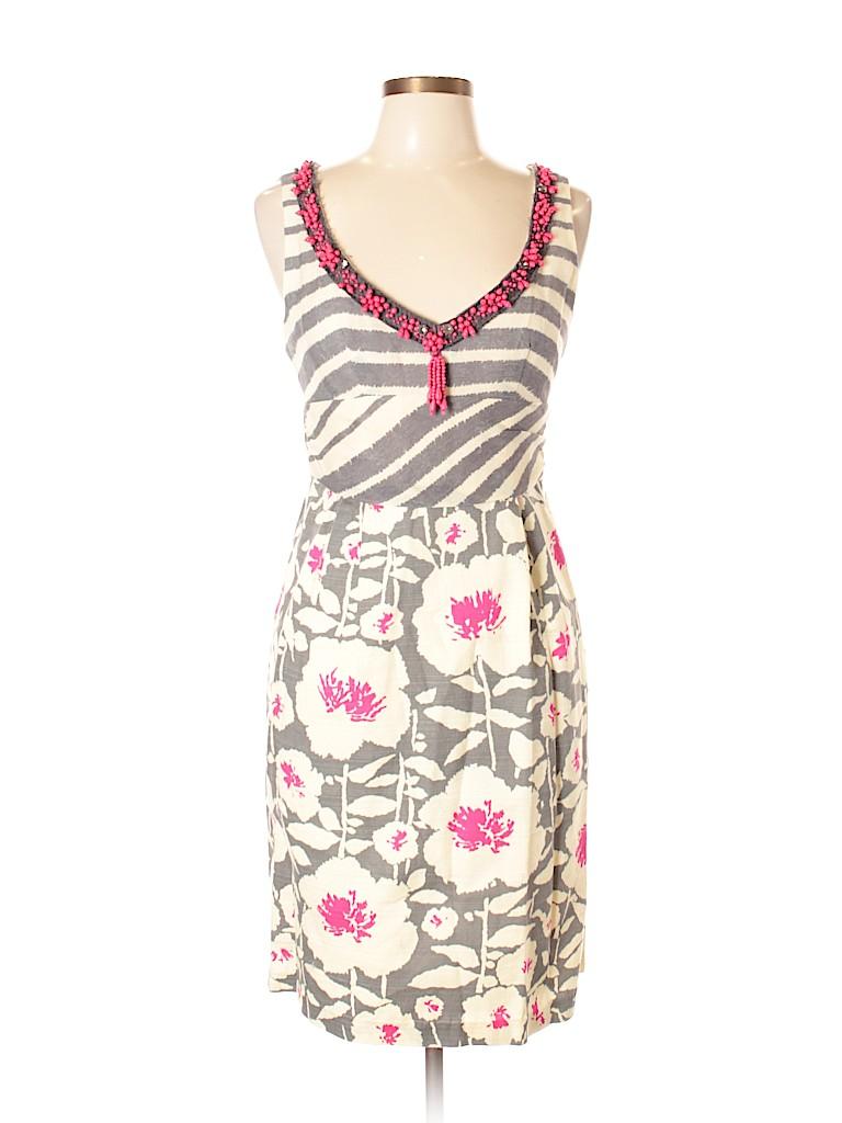 06bf14949372 Nanette Lepore Floral Stripes Beige Casual Dress Size 10 - 82% off ...