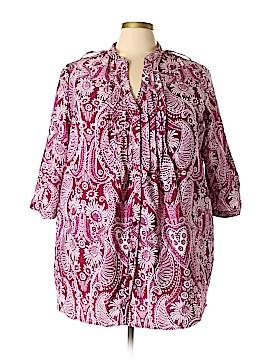 Denim 24/7 3/4 Sleeve Blouse Size 22 (Plus)