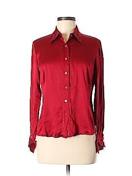 Lafayette 148 New York Long Sleeve Silk Top Size 8