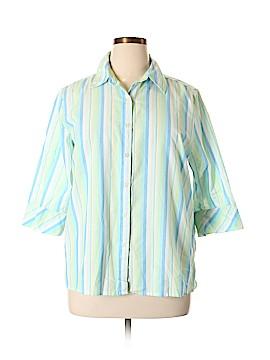 Chic 3/4 Sleeve Button-Down Shirt Size XL
