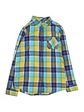 Ruff Hewn Long Sleeve Button-Down Shirt Size 18