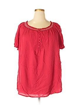 Faded Glory Short Sleeve Blouse Size 2X (Plus)