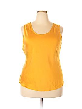 Valerie Stevens Sleeveless Silk Top Size 2X (Plus)