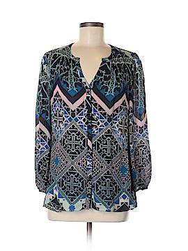Leifsdottir 3/4 Sleeve Silk Top Size 10