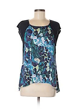 Simply Vera Vera Wang Short Sleeve Blouse Size L (Petite)