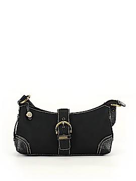 Chaps Solid Black Shoulder Bag One Size
