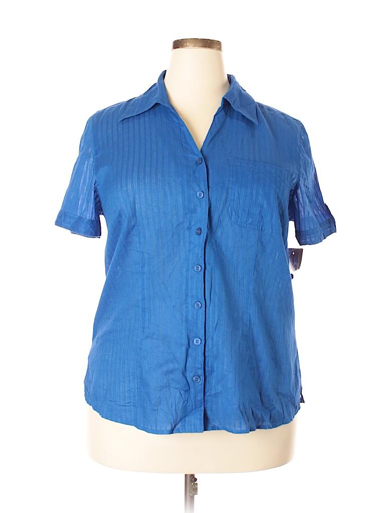 583cc70e Pin it Pin It Button White Stag Women Short Sleeve Button-Down Shirt Size  1X (Plus)