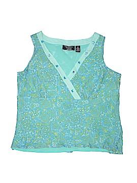 New York City Design Co. Sleeveless Silk Top Size 2X (Plus)