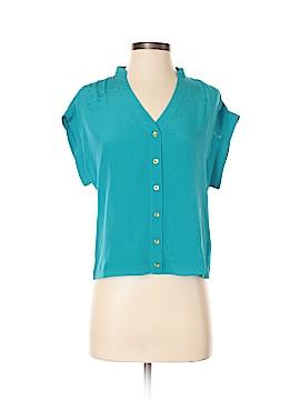 Bebe Short Sleeve Silk Top Size XS