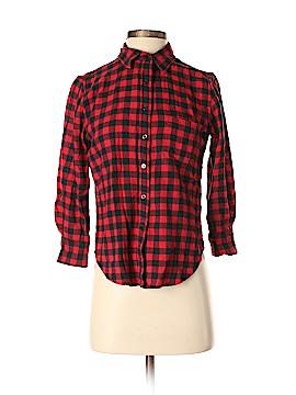 Denim & Supply Ralph Lauren 3/4 Sleeve Button-Down Shirt Size S