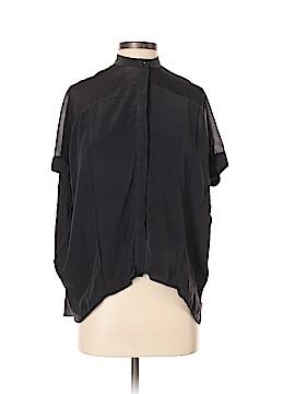 All Saints Short Sleeve Silk Top Size 0