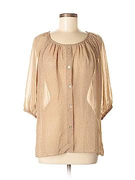 Chris & Carol 3/4 Sleeve Blouse Size M
