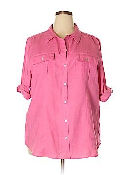 Chaus 3/4 Sleeve Button-Down Shirt Size XXL