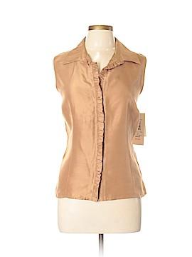 Sunny Leigh Sleeveless Silk Top Size XL