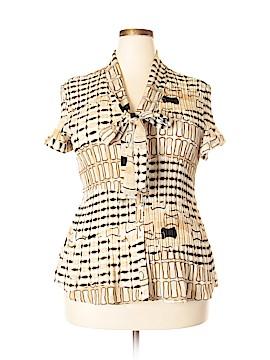 Sunny Leigh Short Sleeve Blouse Size 1X (Plus)