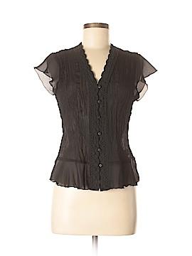 Sunny Leigh Short Sleeve Blouse Size M