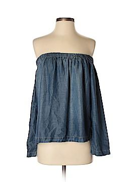 Side Stitch Long Sleeve Blouse Size XS