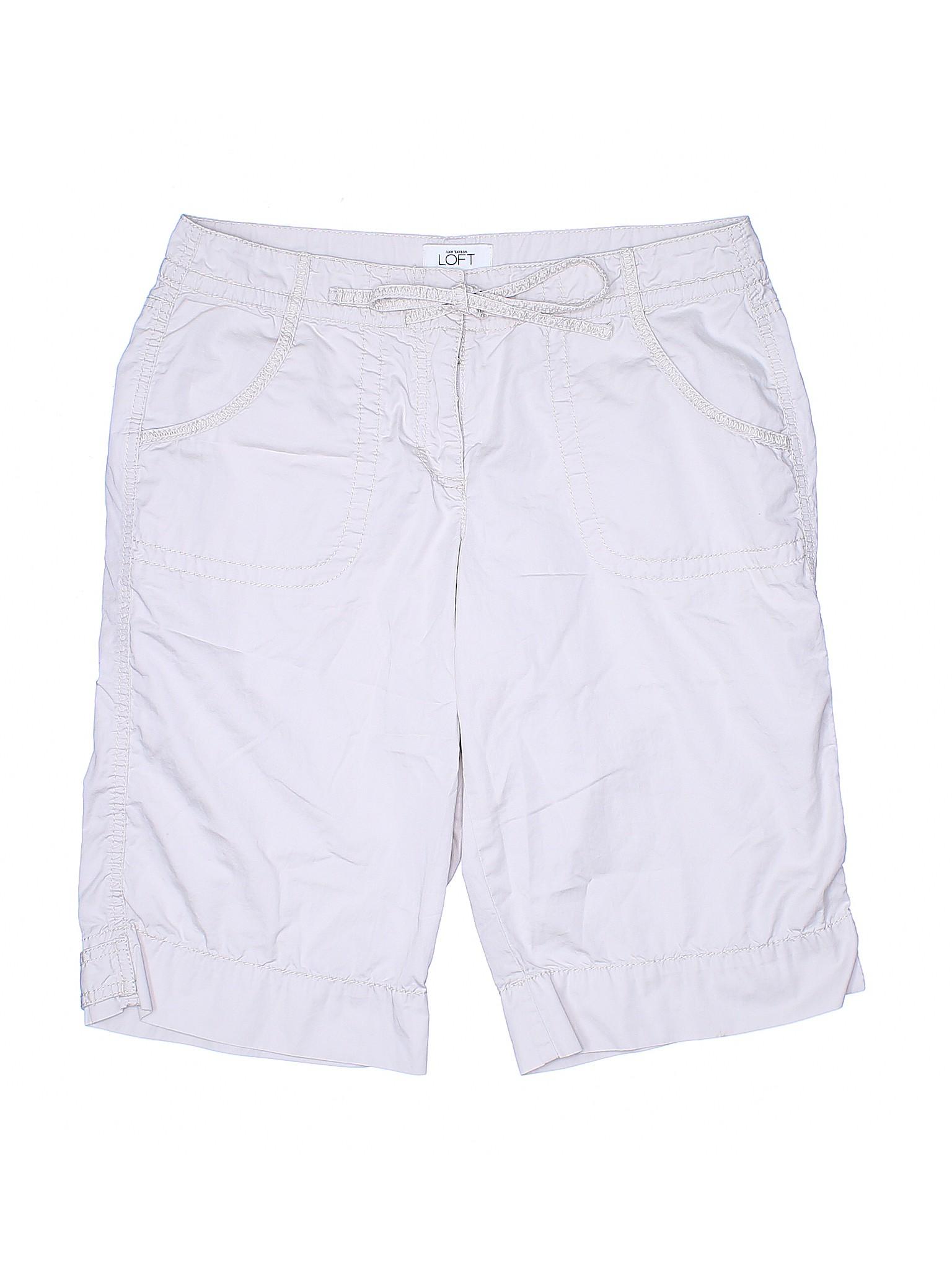 LOFT Taylor Ann Boutique Khaki leisure Shorts w6Z0nxBtn