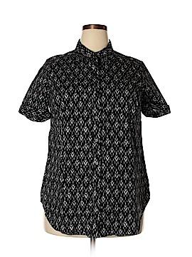 Roaman's Short Sleeve Button-Down Shirt Size 18W (Plus)