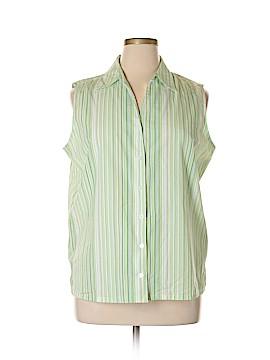 Studio Works Sleeveless Button-Down Shirt Size XL