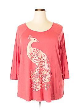 Lucky Brand 3/4 Sleeve T-Shirt Size 3X (Plus)