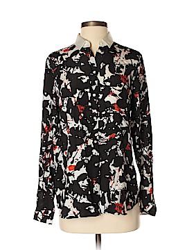BOSS by HUGO BOSS Long Sleeve Silk Top Size 2