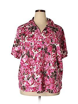 Erika Short Sleeve Button-Down Shirt Size 3X (Plus)