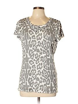 INC International Concepts Short Sleeve Blouse Size XL