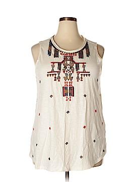 Lucky Brand Sleeveless T-Shirt Size 1X (Plus)