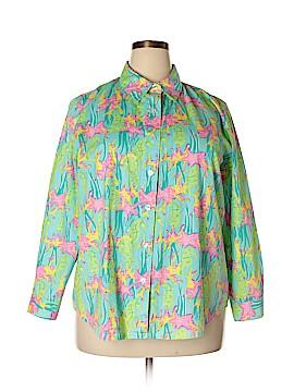 Key West Long Sleeve Button-Down Shirt Size 1X (Plus)