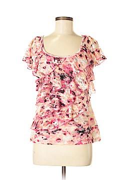 AB Studio Short Sleeve Blouse Size M
