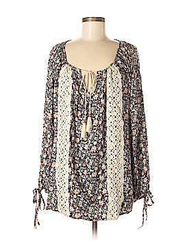 Easel Long Sleeve Blouse Size M
