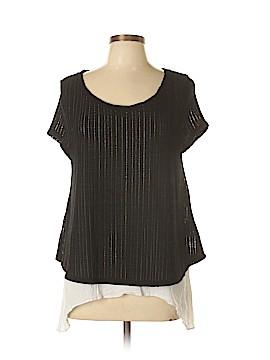Meadow Rue Short Sleeve Blouse Size L