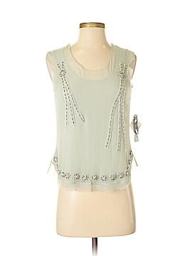 Calvin Klein Sleeveless Silk Top Size 4