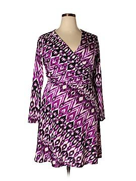 Allison Brittney Casual Dress Size 1X (Plus)