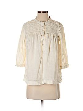 Wrap 3/4 Sleeve Button-Down Shirt Size 4