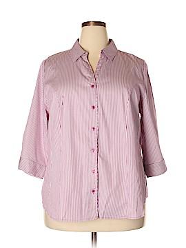 Lane Bryant 3/4 Sleeve Button-Down Shirt Size 22 (Plus)