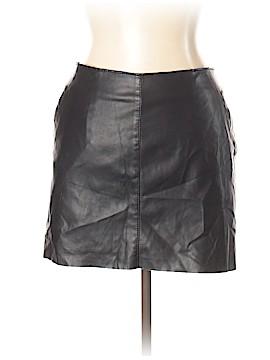 Zara Faux Leather Skirt Size L